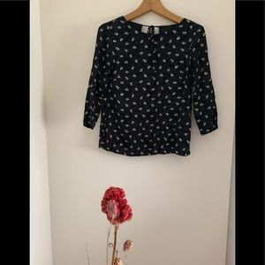 H&M flower print blouse